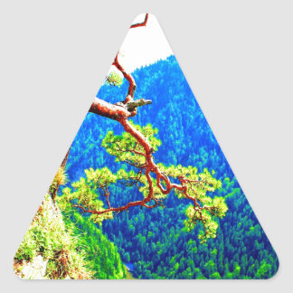 Strong life mountain top tree peek view tatra pola triangle sticker