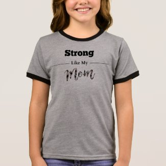 Strong Like Mom Multi Colored Shirt Kids