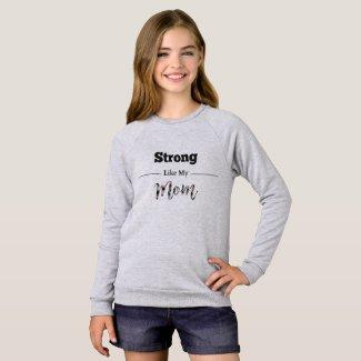 Strong Like Mom Pink Plaid Sweatshirt
