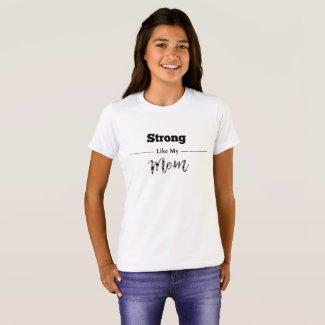 Strong Like Mom Pink Plaid T-Shirt