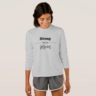 Strong Like Mom Pink Plaid T-Shirt