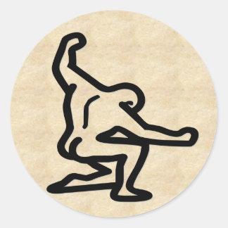Strong Man Classic Round Sticker