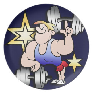Strong Man Party Plate