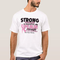 Strong Man Support Breast Cancer Awareness T-Shirt