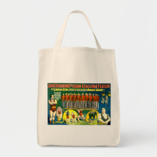 Strong Men Circus Show Vintage 1898 Poster Tote Bags