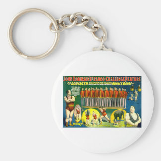 Strong Men Circus Show Vintage 1898 Poster Basic Round Button Keychain