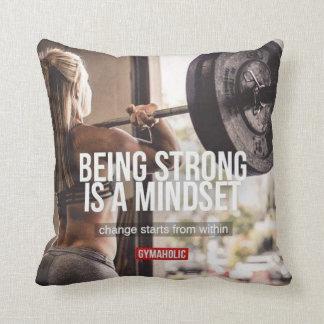 Strong Mindset - Women's Fitness Inspirational Throw Pillow