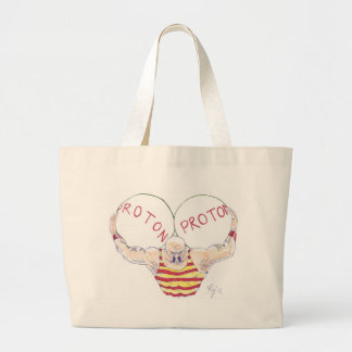 Strong Nuclear Force Physics Cartoon Tote Bags