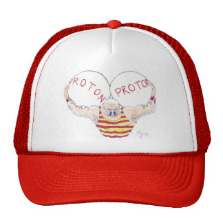 Strong Nuclear Force Physics Cartoon Hat