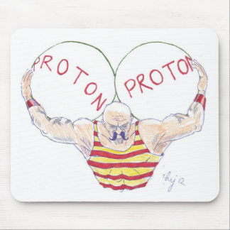 Strong Nuclear Force Physics Cartoon Mouse Pads