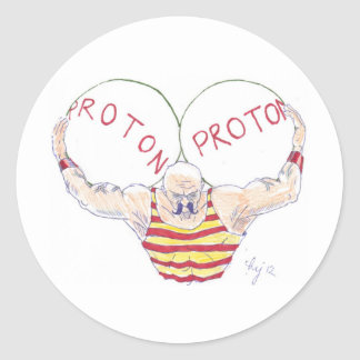 Strong Nuclear Force Physics Cartoon Stickers