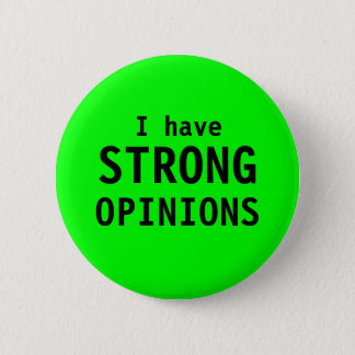 """Strong Opinions"" button"