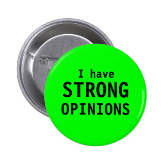 """""""Strong Opinions"""" button"""