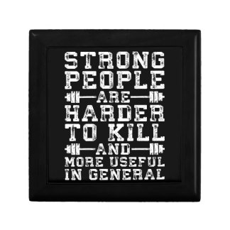 Strong People Are Harder To Kill - Workout Keepsake Box