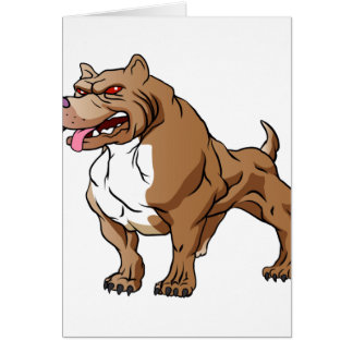 strong pitbull bodybuilder. card