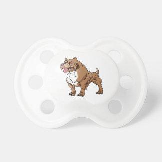 strong pitbull bodybuilder. pacifier
