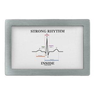 Strong Rhythm Inside (ECG/EKG Heartbeat) Rectangular Belt Buckles