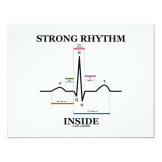 Strong Rhythm Inside (ECG/EKG Heartbeat) Card