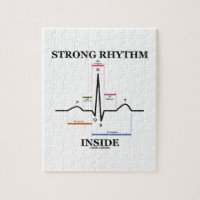 Strong Rhythm Inside (ECG/EKG Heartbeat) Jigsaw Puzzles