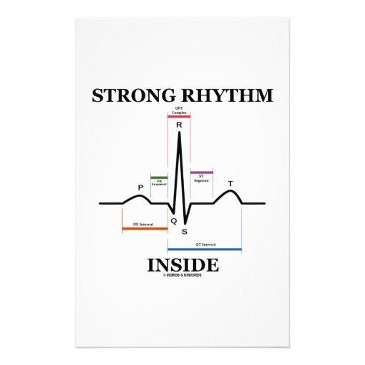 Strong Rhythm Inside (ECG/EKG Heartbeat) Custom Stationery
