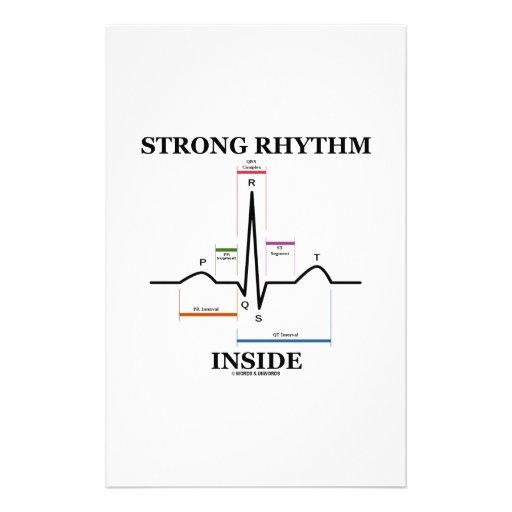 Strong Rhythm Inside (ECG/EKG Heartbeat) Stationery Paper