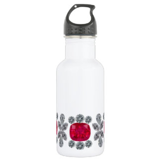 Strong Rubies Stainless Steel Water Bottle
