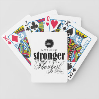 Strong Showgirl Bicycle Poker Deck