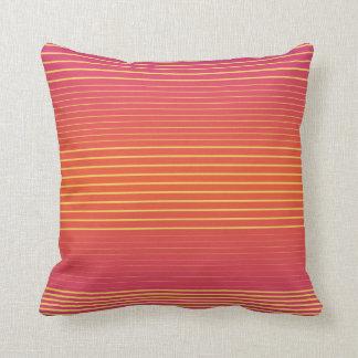 Strong Stripes (flame-primrose) Throw Pillow