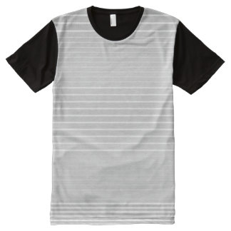 Strong Stripes (light grey) All-Over-Print T-Shirt