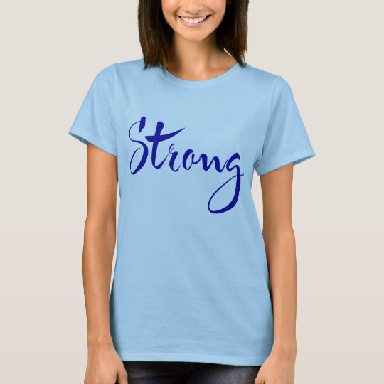 STRONG T-shirt (blue lettering)