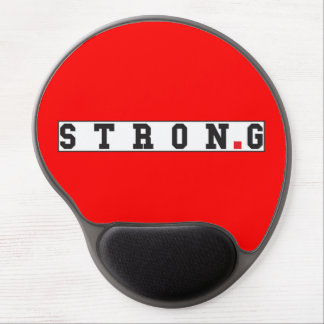 strong text message emotion feel red dot square gel mouse pad