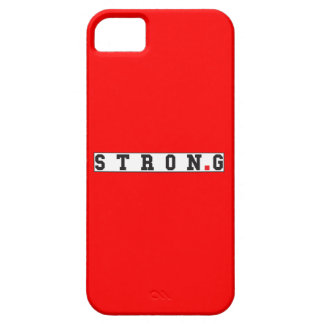 strong text message emotion feel red dot square iPhone SE/5/5s case