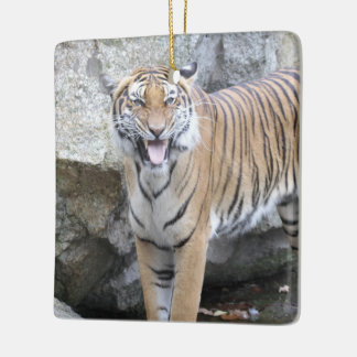 Strong Tiger Ceramic Ornament