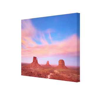 Strong Winds over Desert Valley Stretched Canvas Prints