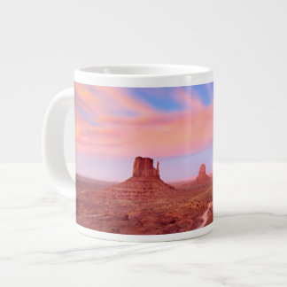 Strong Winds over Desert Valley Large Coffee Mug