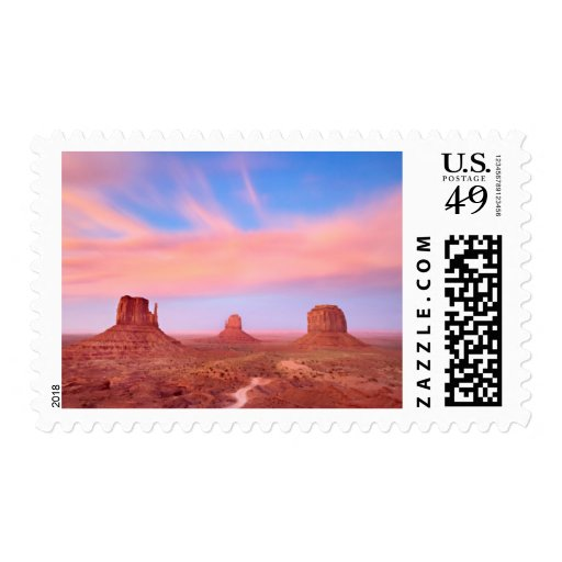 Strong Winds over Desert Valley Postage Stamp