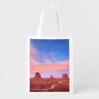 Strong Winds over Desert Valley Reusable Grocery Bags