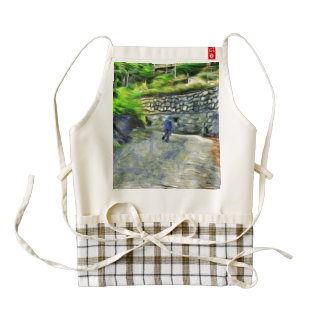 Strong winds zazzle HEART apron