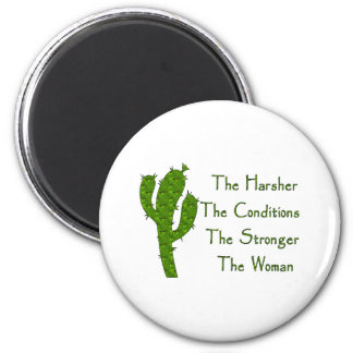 Strong Woman 2 Inch Round Magnet