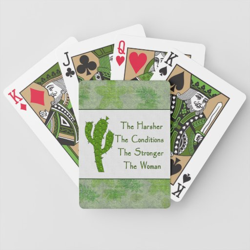 Strong Woman Bicycle Playing Cards