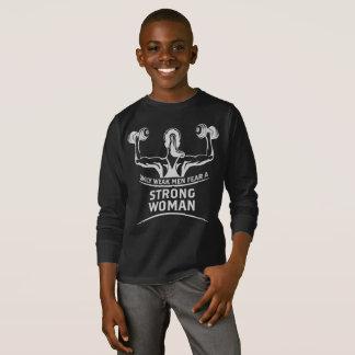 Strong Woman Boy's Dark Long Sleeve T-Shirt