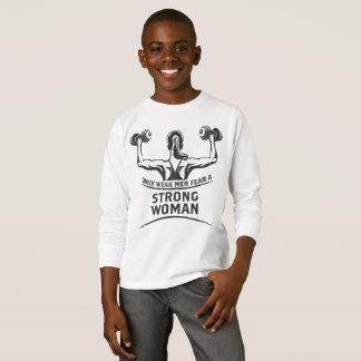 Strong Woman Boy's Long Sleeve T-Shirt