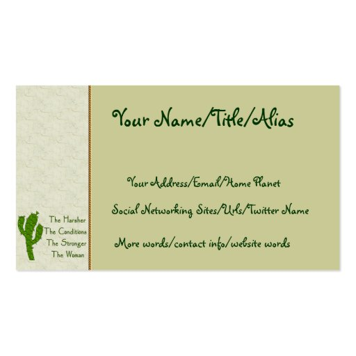Strong woman business card zazzle for Business cards for women
