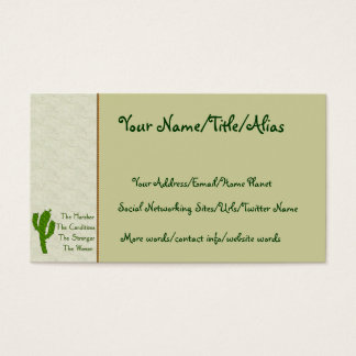 Strong Woman Business Card