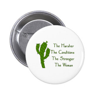 Strong Woman Pinback Buttons