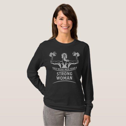 Strong Woman Dark Womens Long Sleeve T_Shirt