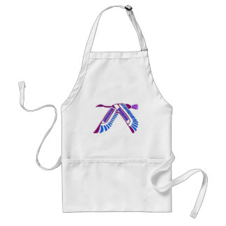 Strong Woman Flying Adult Apron