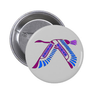 Strong Woman Flying Pinback Button