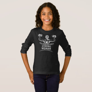 Strong Woman Girl's Dark Long Sleeve T-Shirt