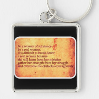 Strong woman keychain